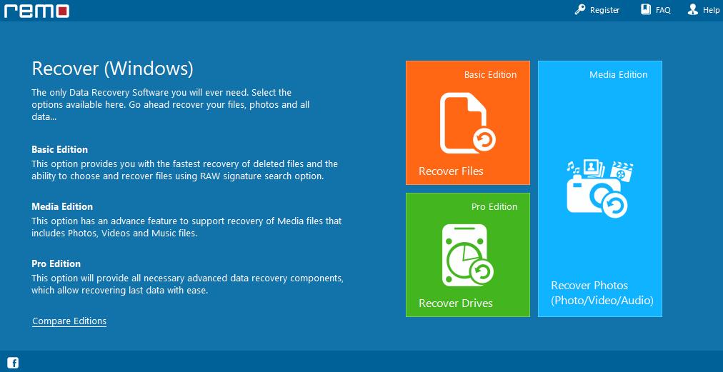 Remo Recover Screenshot