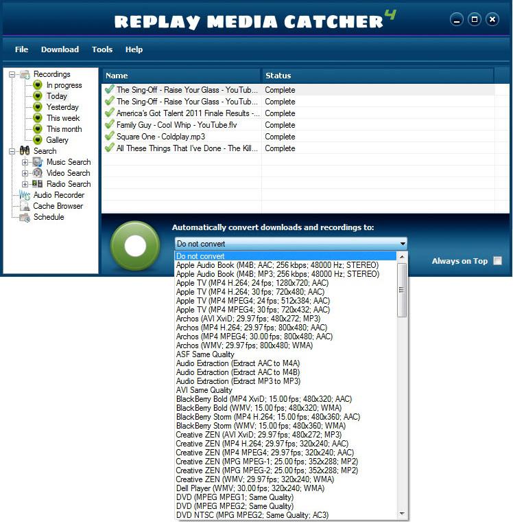 Replay Media Catcher, Video Capture Software Screenshot