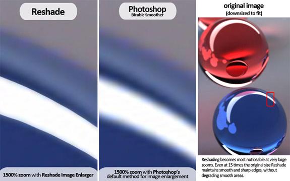 Reshade Image Enlarger Lite, Design, Photo & Graphics Software Screenshot