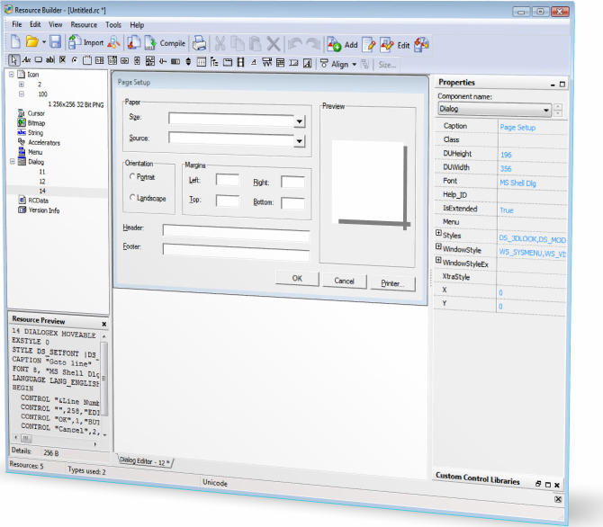 Resource Builder, Development Software Screenshot