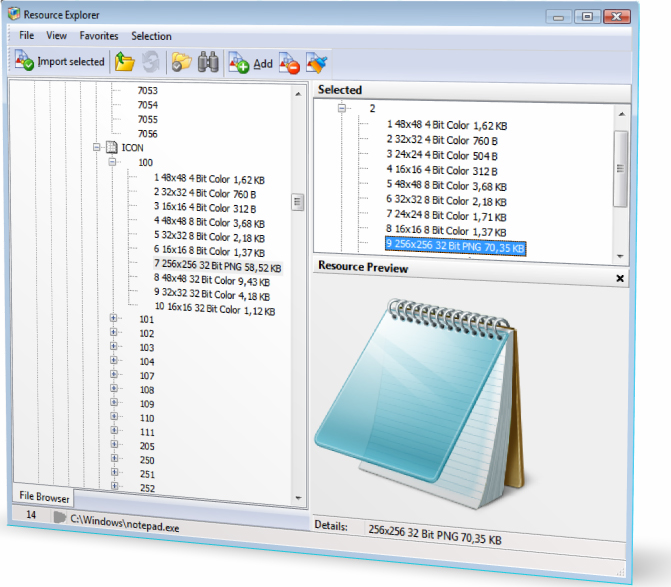 Resource Files Software Screenshot