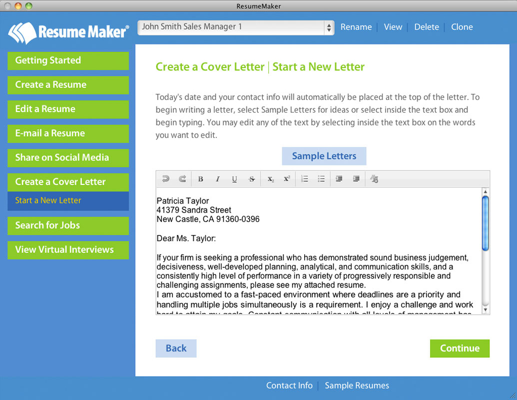 resume maker mac - business management software