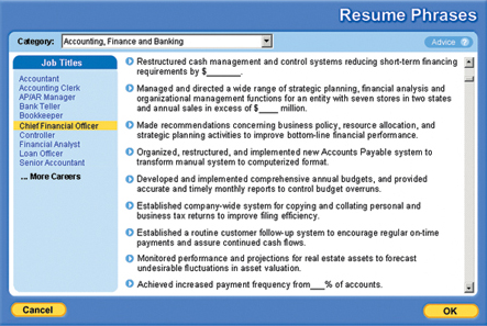 Resume Works Pro, Business Management Software Screenshot