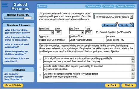Resume Works Pro Screenshot
