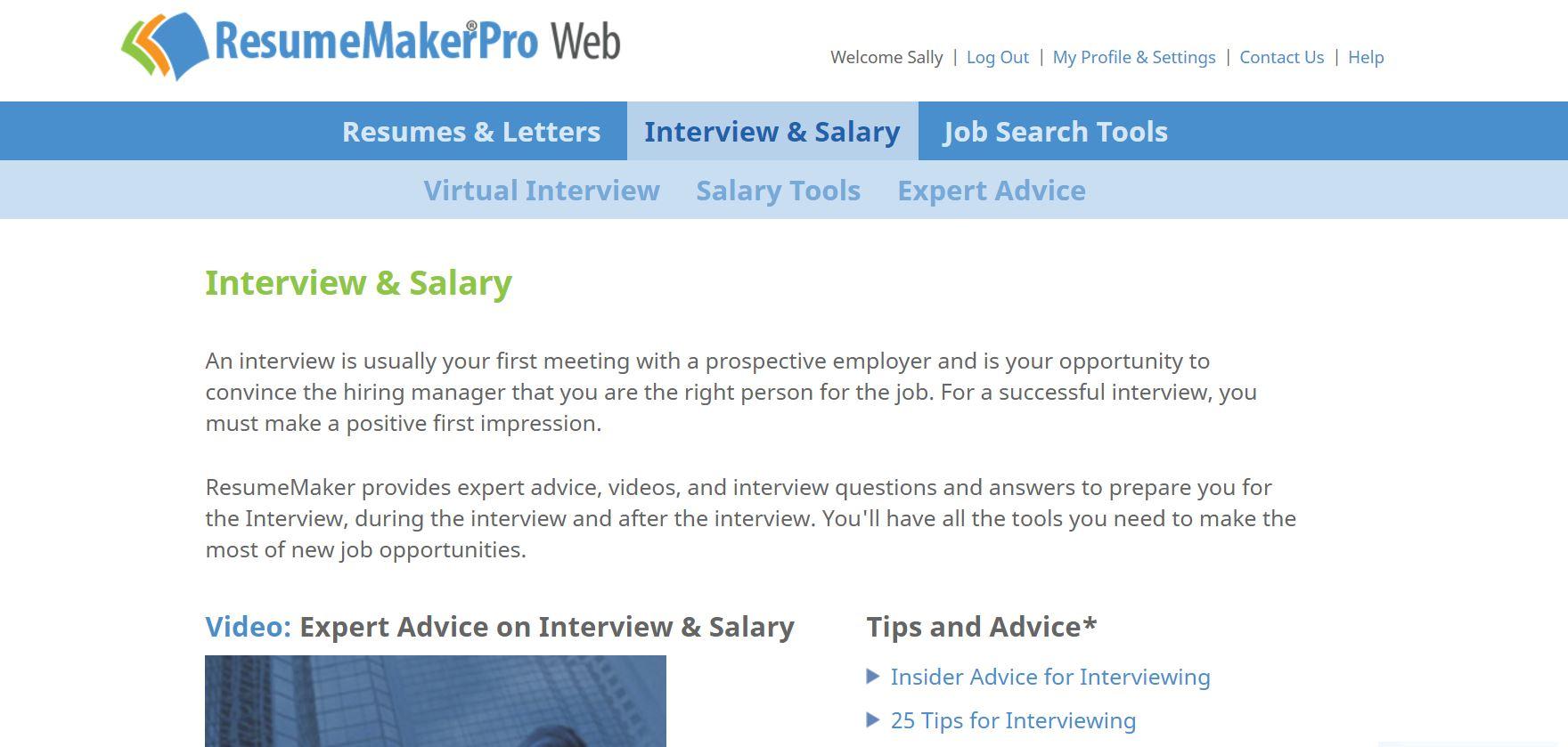 ResumeMakerPro Web - Annual Subscription Screenshot
