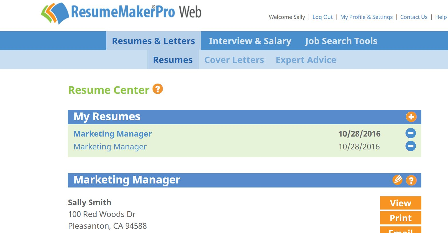 ResumeMakerPro Web - Annual Subscription, Productivity Software, Job Search & Business Card Software Screenshot