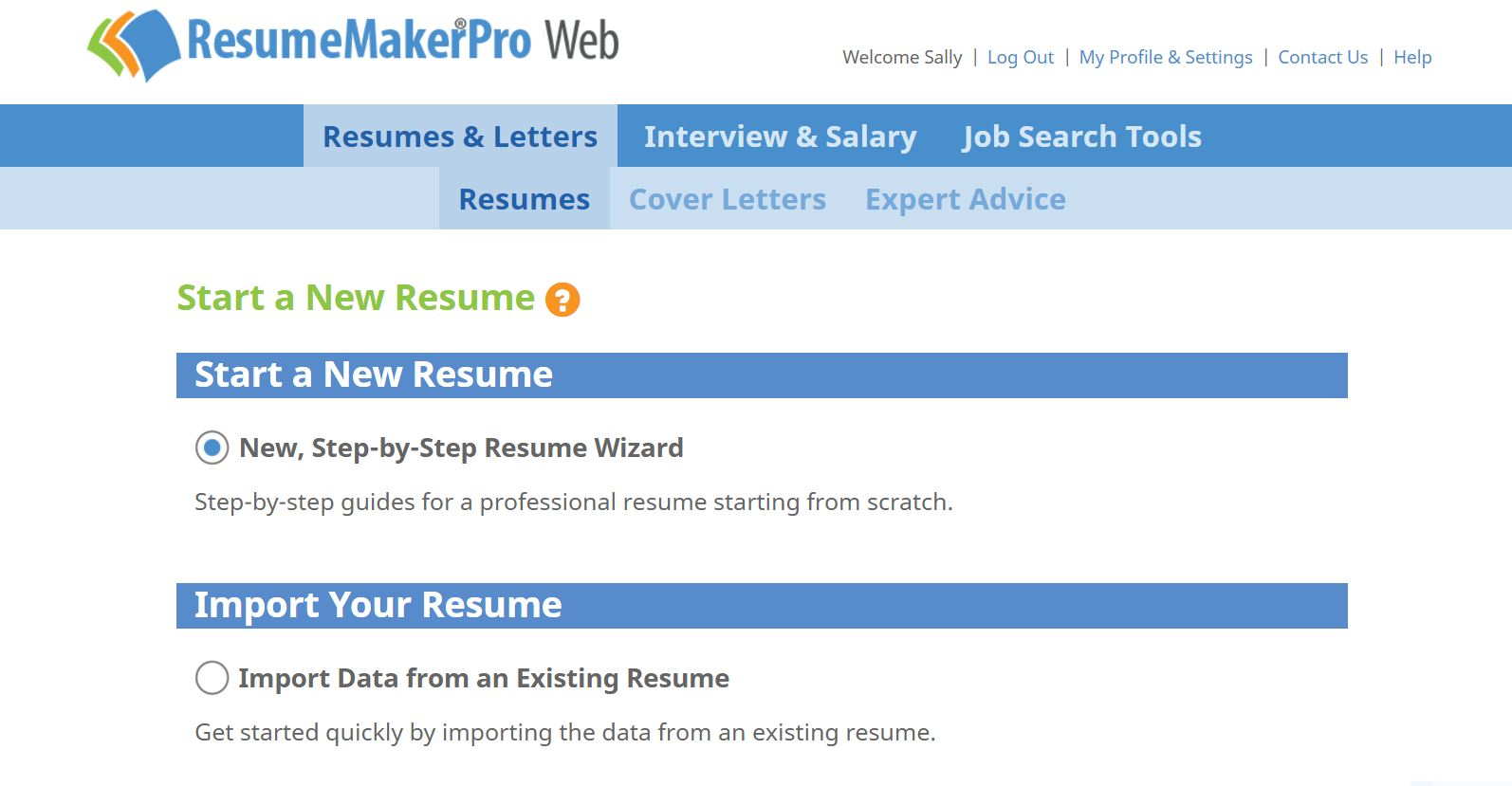 ResumeMakerPro Web - Annual Subscription, Job Search & Business Card Software Screenshot