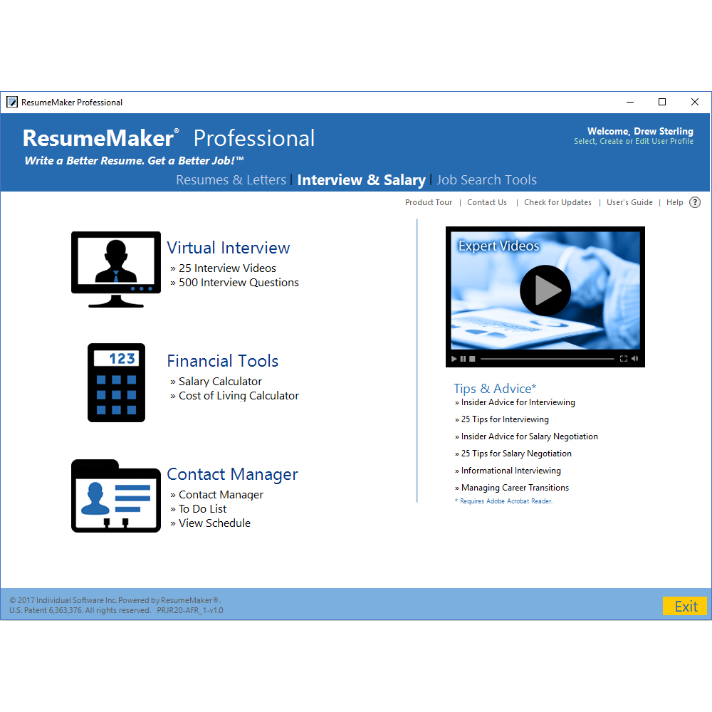 ResumeMaker Professional Deluxe, Business & Finance Software Screenshot