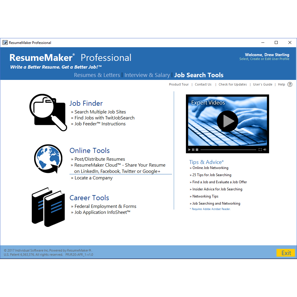 Business & Finance Software, ResumeMaker Professional Deluxe Screenshot