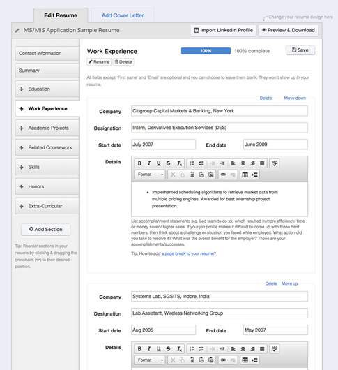 Productivity Software, Resumonk Lifetime Plan Screenshot