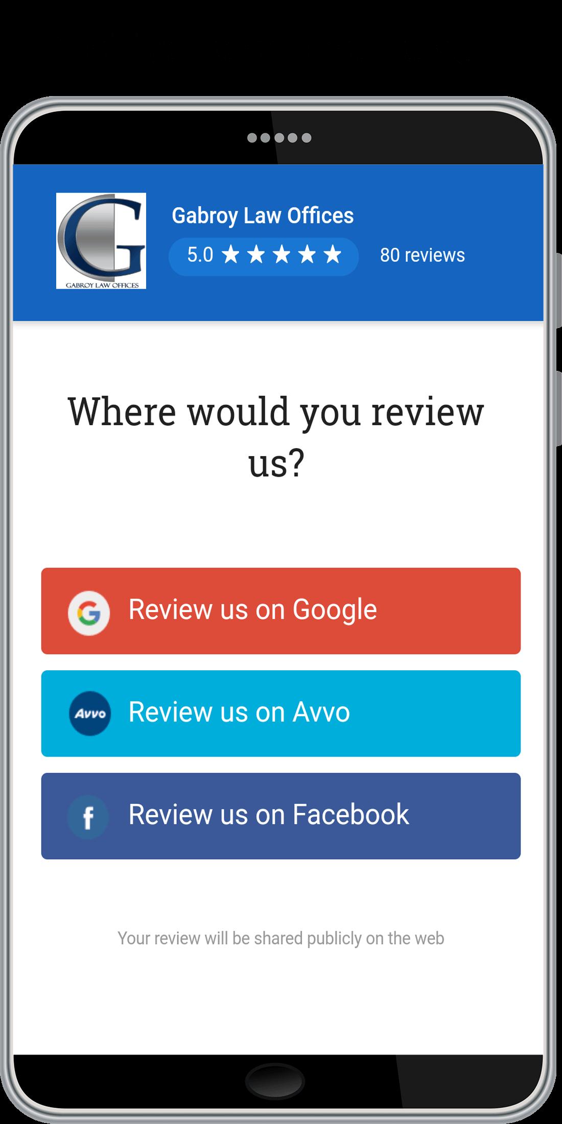 Review Management System, Business Management Software Screenshot