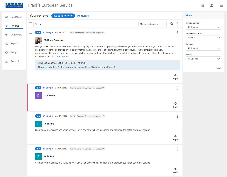 Review Management System Screenshot 8
