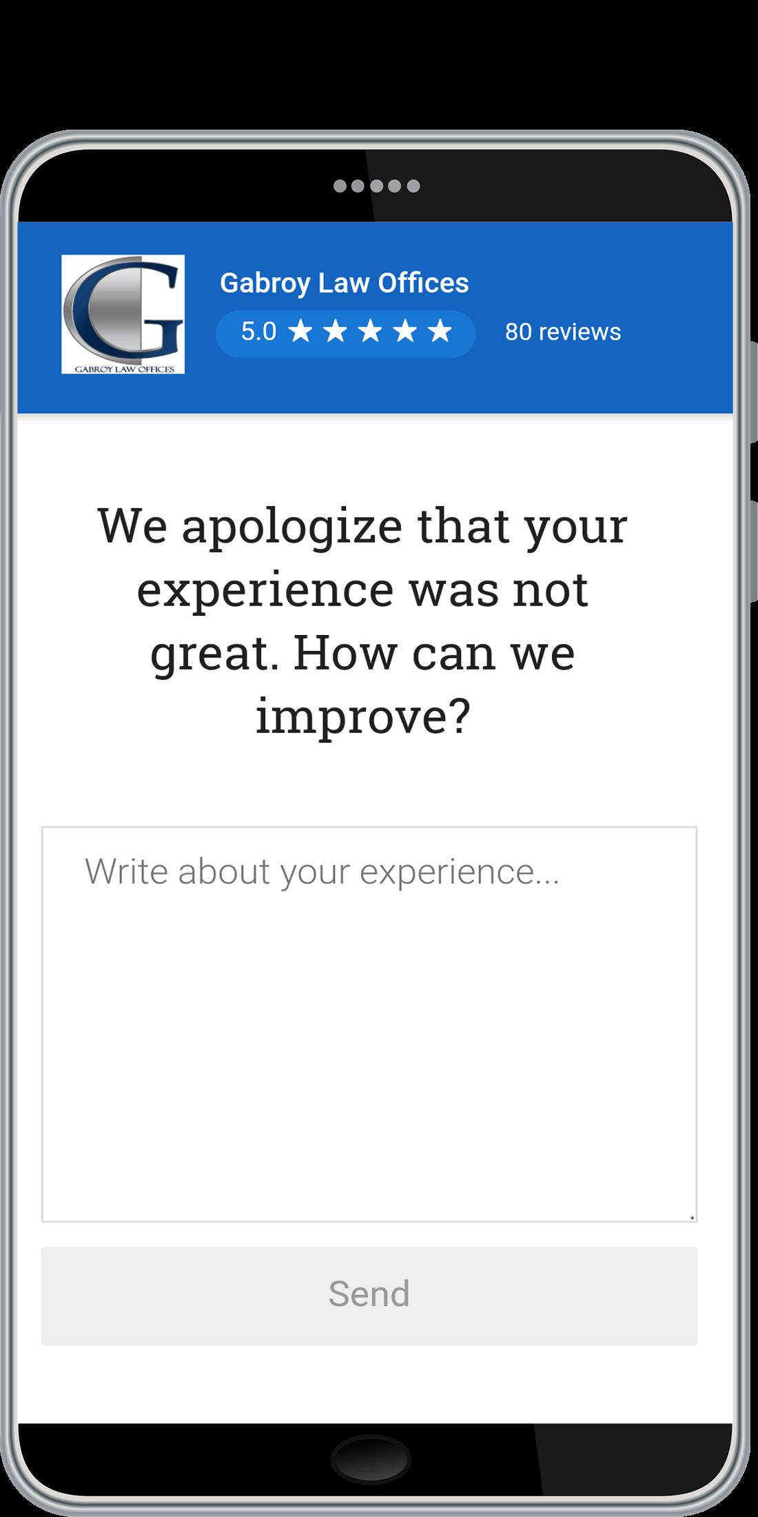 Business Management Software, Review Management System Screenshot
