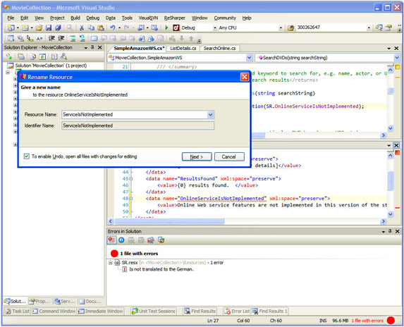RGreatEx 1.1 - .NET Localization Tool for Visual Studio Screenshot 9