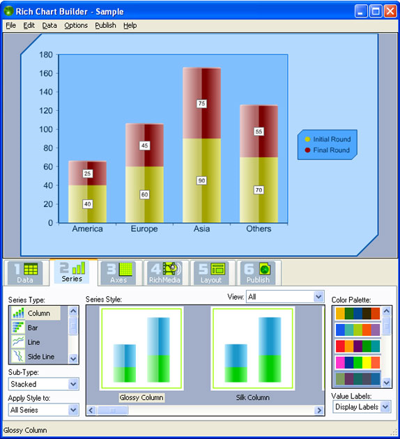 Rich Chart Builder, Microsoft Office Software Screenshot