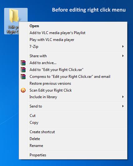 Right Click Enhancer Professional, Desktop Enhancements Software Screenshot