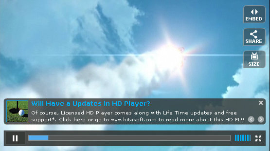 Ripe HD flv Player 1.5 Screenshot