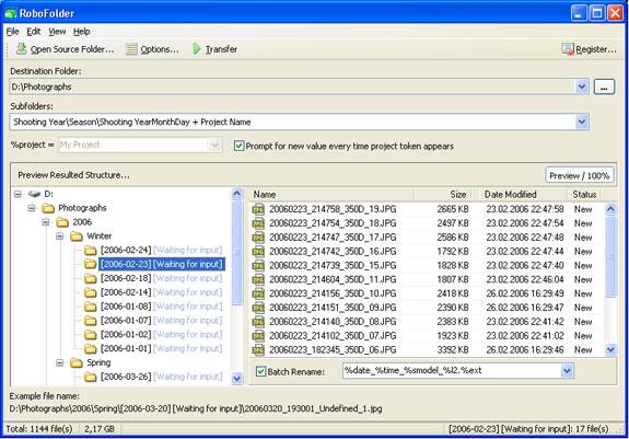 RoboFolder Screenshot