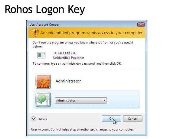 Rohos Logon Key PRO & Rohos Disk Encryption PRO Screenshot