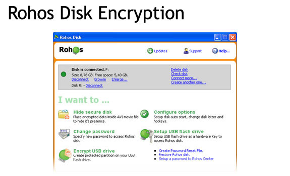 Security Software, Rohos Logon Key PRO & Rohos Disk Encryption PRO Screenshot