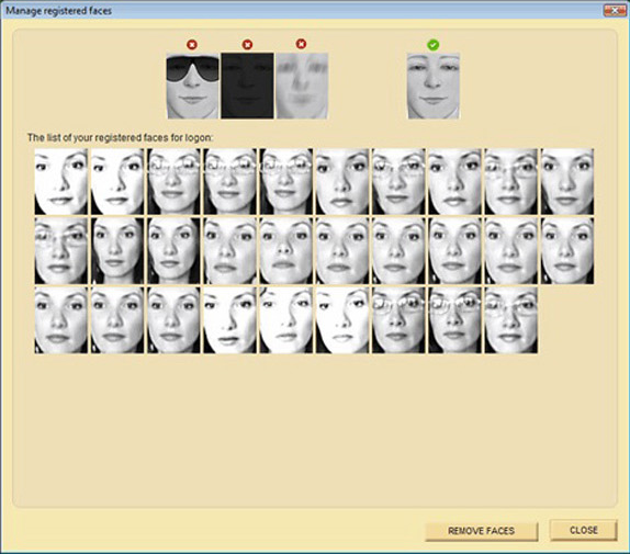 Rohos Face Logon, Privacy Software Screenshot