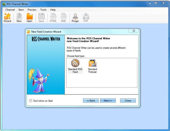 RSS Channel Writer 2.0 Screenshot