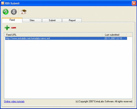 RSS Submit Screenshot