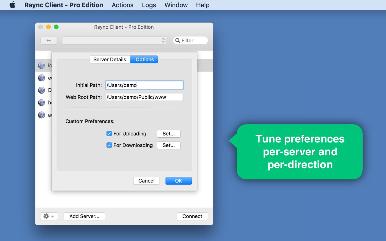 Software Utilities, Rsync Client - Pro Edition Screenshot