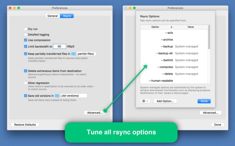 Rsync Client - Pro Edition, File Management Software Screenshot