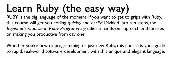 Ruby Programming for Beginners Screenshot