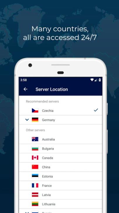 RUSVPN, Privacy Software Screenshot