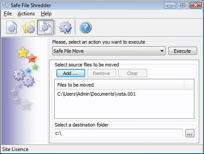 Safe File Shredder, Deletion Software Screenshot