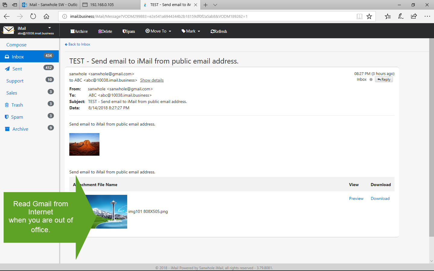 Sanwhole Exchange iMail Server Business Ultimate Edition LTUD Screenshot 8