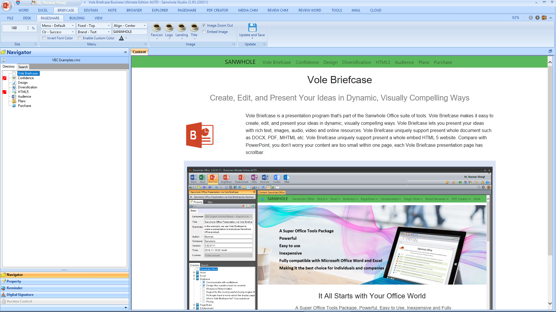 Microsoft Office Software, Sanwhole Office Ultimate Edition Screenshot