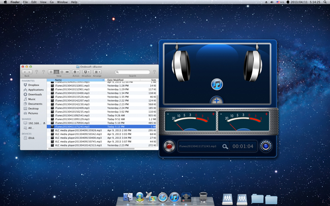 sBlaster, Audio Software Screenshot