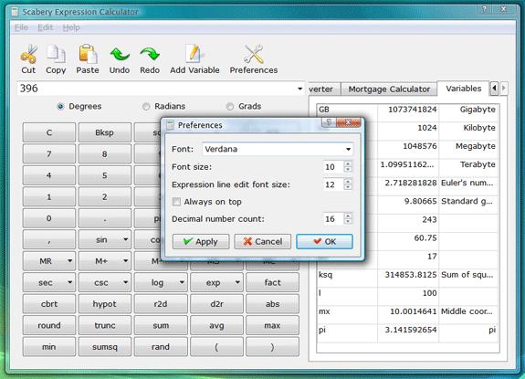 Calculator Software, Scabery Expression Calculator 2 Screenshot