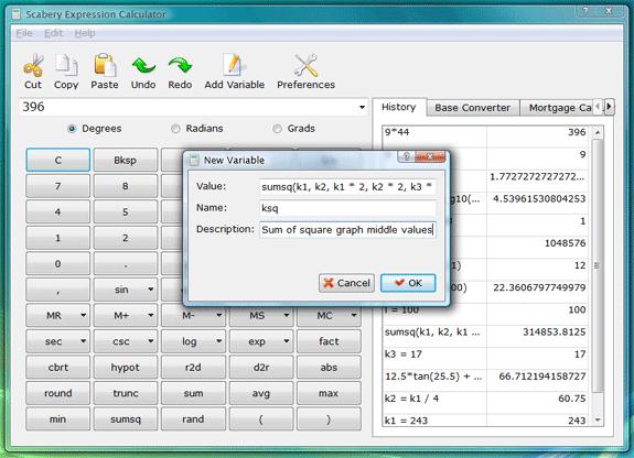 Calculator Software Screenshot