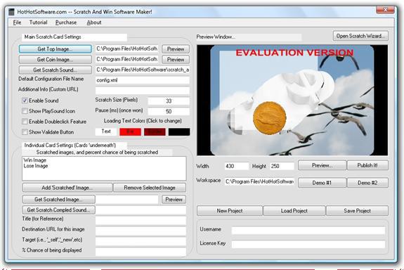 Scratch and Win Website Game Creator Screenshot