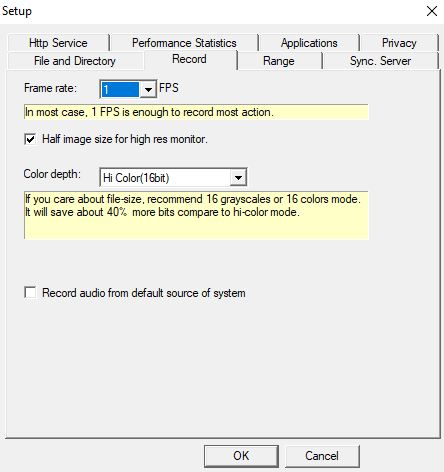 Screen Anytime Server Edition, Security Software Screenshot