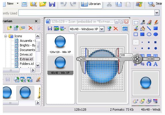 Screen Calipers, Design, Photo & Graphics Software Screenshot
