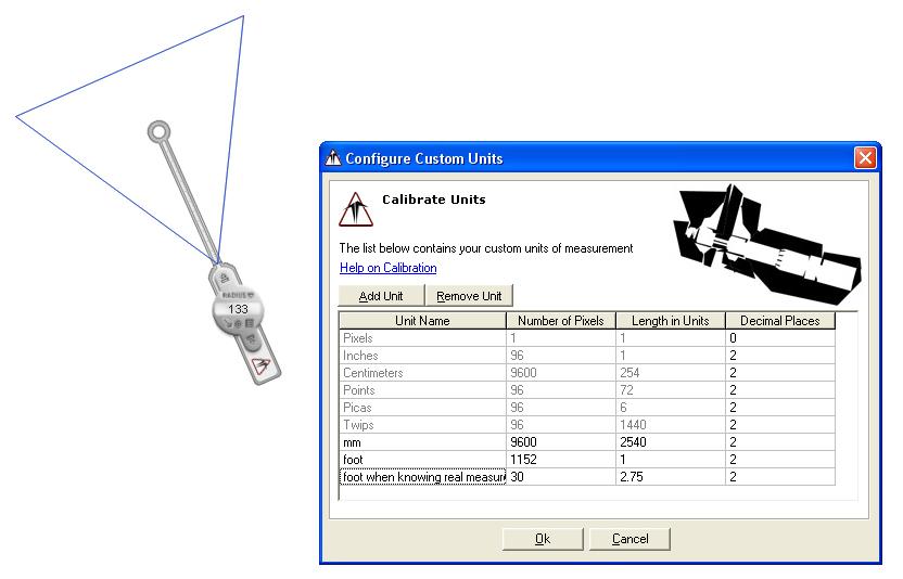 Measurement Software, Screen Compass Screenshot