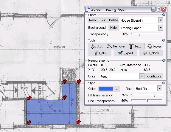 Screen Tracing Paper Screenshot