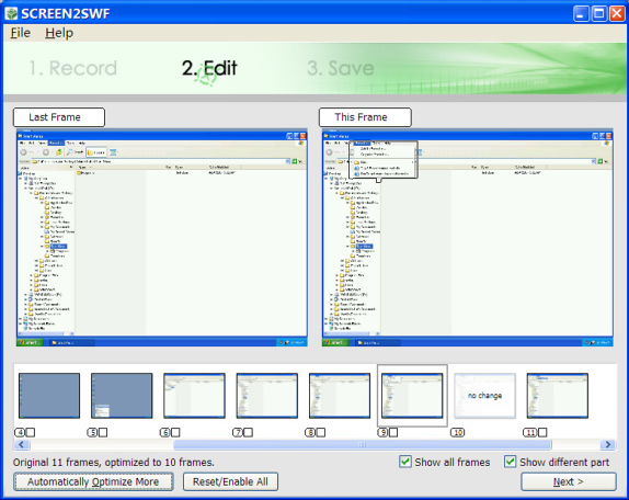 SCREEN2SWF, Video Capture Software Screenshot