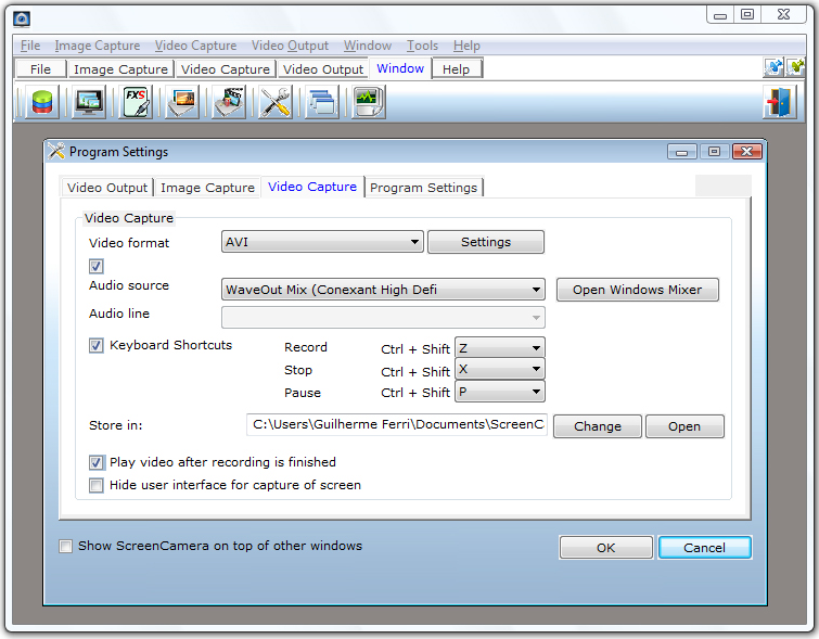 ScreenCamera.Net, Internet Software Screenshot