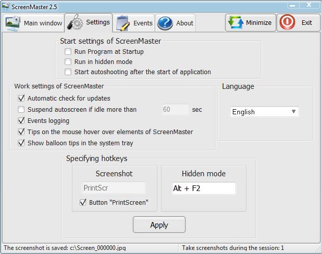 ScreenMaster, Screenshot Software Screenshot