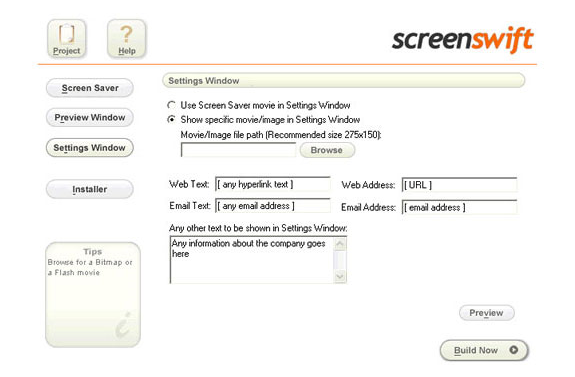 Screenswift, Design, Photo & Graphics Software Screenshot