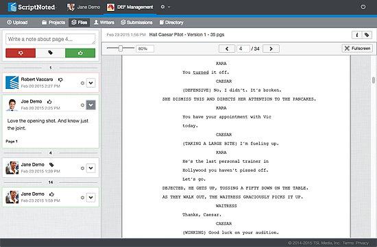Project Management Software Screenshot