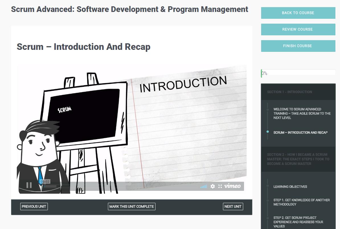 Scrum Advanced: Software Development & Program Management Screenshot