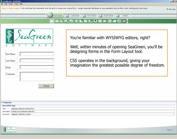 SeaGreen Screenshot