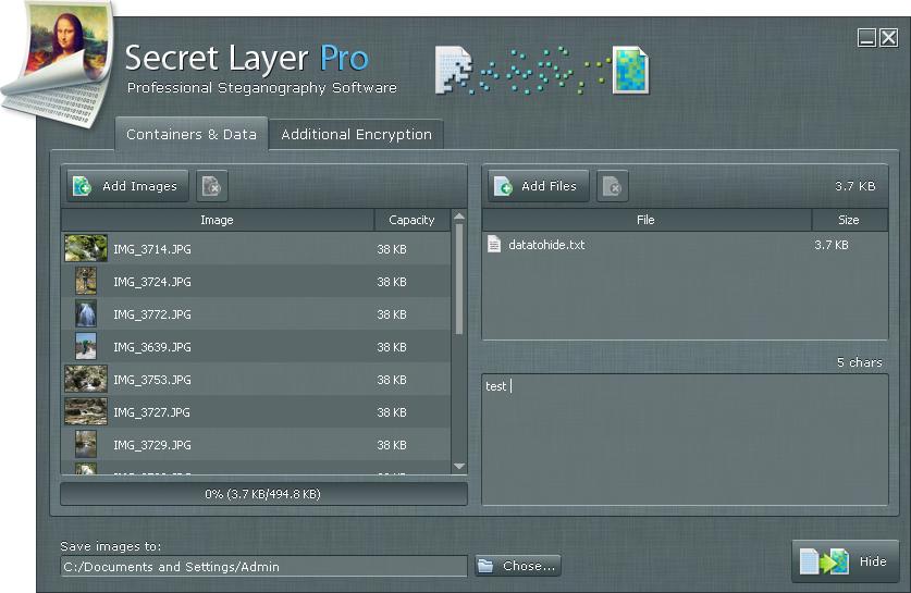 SecretLayer, Security Software Screenshot